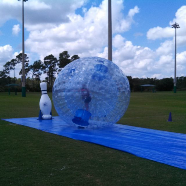 HUMAN HAMSTER BALL BOWLING 50' OR 75' LANE