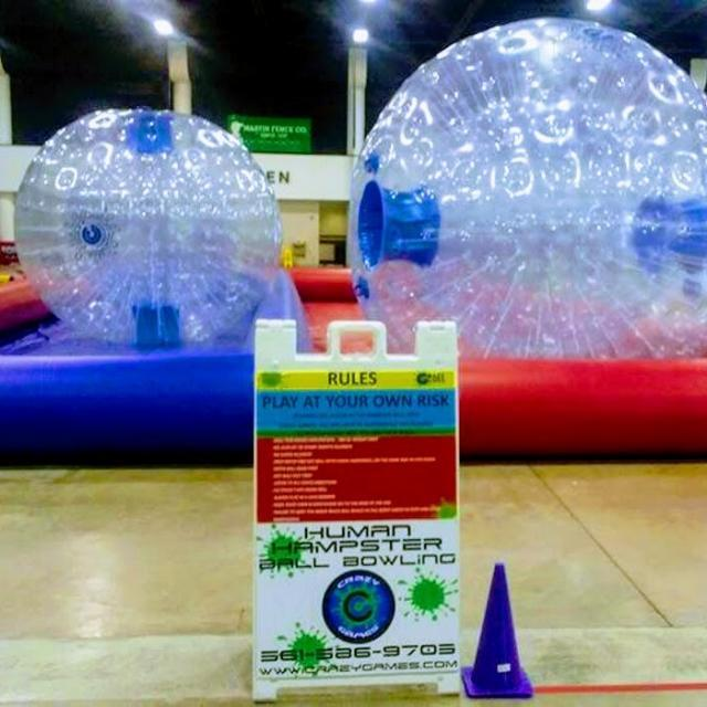 HUMAN HAMSTER BALL DOUBLE BOWLING 50' LANE
